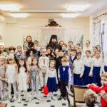Епископ Бронницкий Парамон на праздничном представлении, посвященном Рождеству Христову