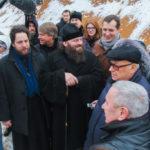 Визит владыки Парамона и В.И. Ресина в храм великомученика Феодора Тирона в Хорошеве