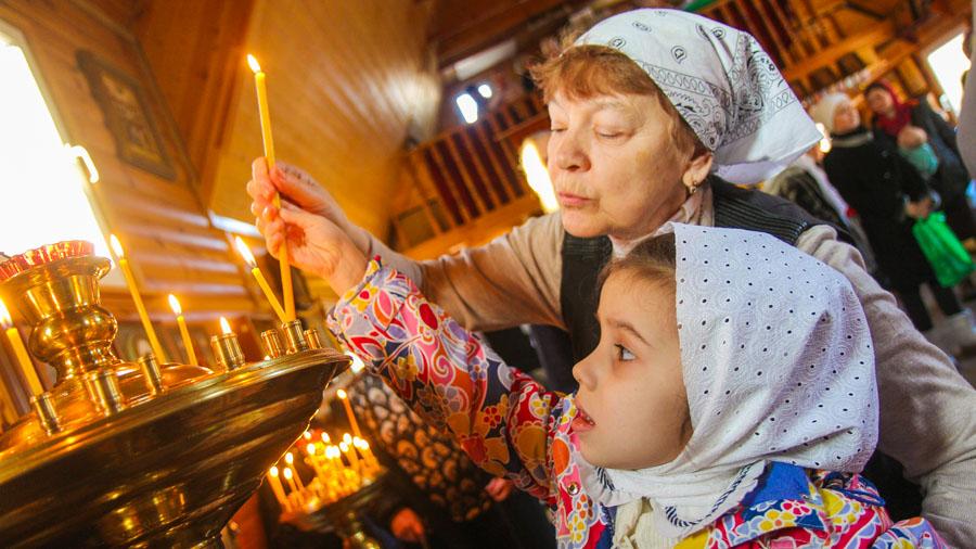 Детская Литургия в Храме великомученика Федора Тирона в Хорошеве