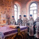 Литургия Преждеосвященных Даров в Храме Преображения Господня в Тушине г. Москвы